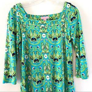 Lilly Pulitzer Silk Bird/Cockatoo Shift Dress